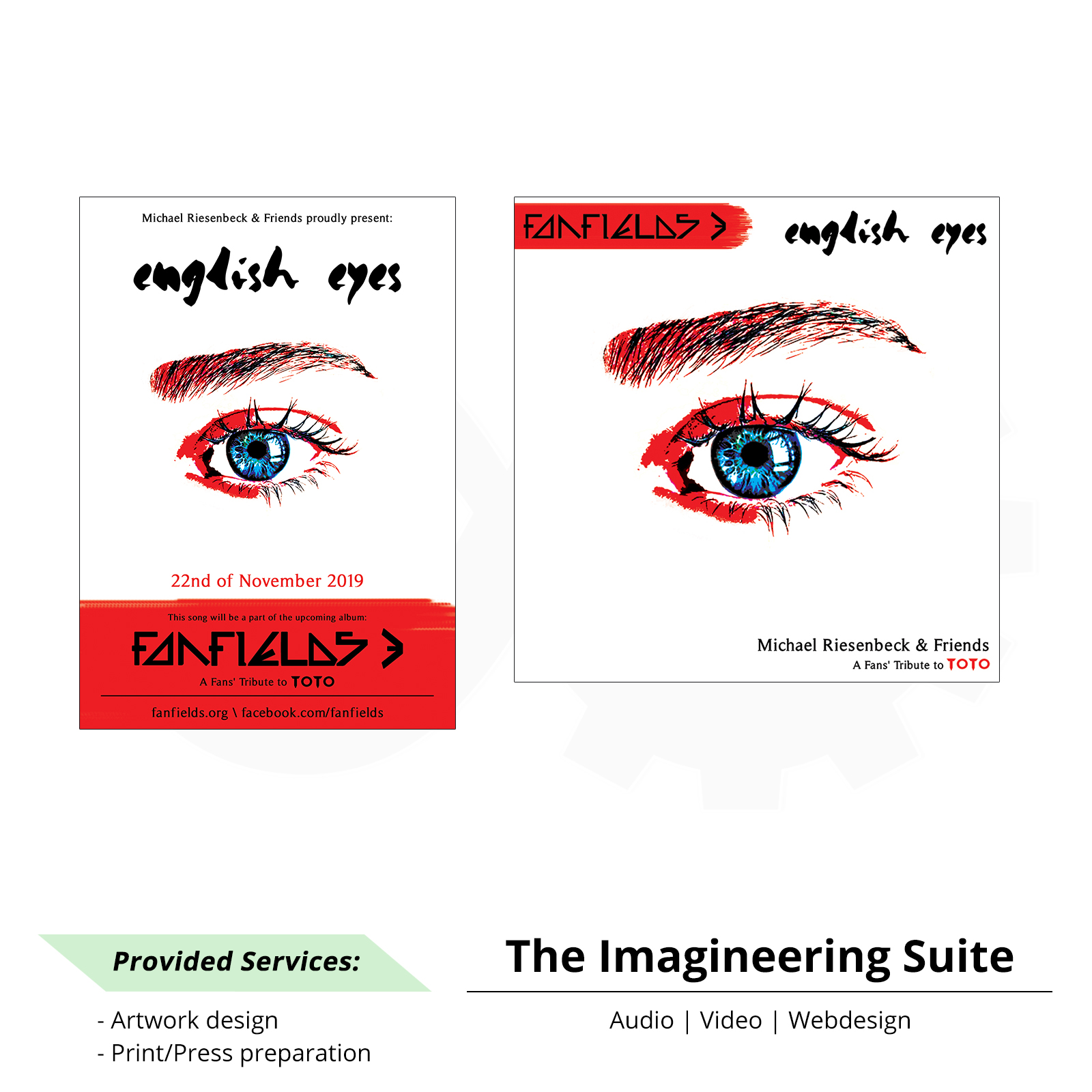 Fanfields - English Eyes - Artwork & Promo material